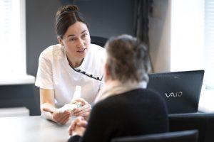 bezoek aan de podotherapeut